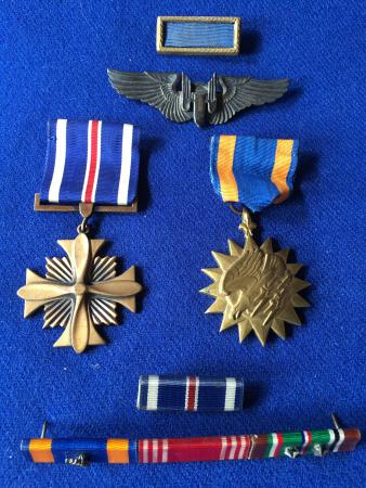 Gunners wings and Medals John Scarich
